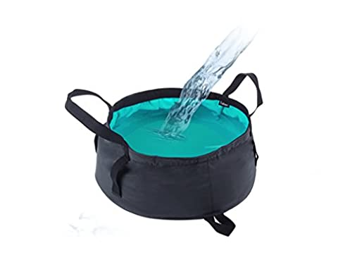 Holzsammlung® 12L Foldable Bucket Collapsible Water Carrier Container Bag For Camping, Hiking, Travel