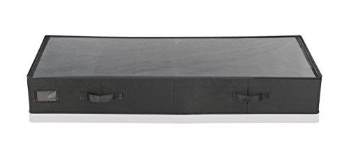Leifheit 80011 Cajón Bajo Cama Grande, Tela, Negro, 16 x 46 x 5 cm
