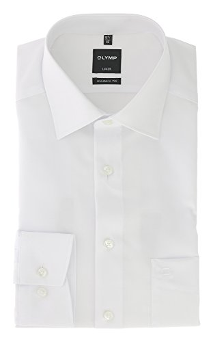 OLYMP Herren Hemden Modern Fit Weiß