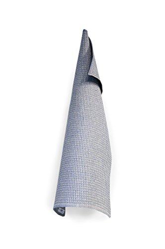 Växbo Lin Bubbel Handtuch Geschirrtuch Küchenhandtuch Gästehandtuch - Farbe: blau, 100% Leinen, saugfähig, 50x70 cm, Made in Sweden