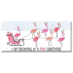 GWBI, Mini Schokolade I am dreaming of a pink christmas, Weihnachten Flamingos, 30 gr. Tafel