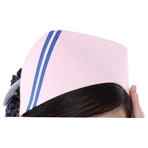Wukong Paradise Eine Frauen-Krankenschwester-Mütze Hut Arztkappe Beauty Shop Arbeit Mütze (Rosa-03)