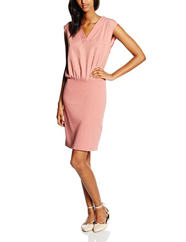 TOM TAILOR Damen Kleid Fabric Mix Dress Rosa(blush red 4209)