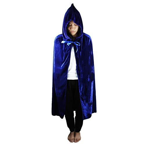 Blue Velvet-mantel (KYEYGWO Damen Poncho Gr. Large (100 cm), 3-Velvet-Blue)