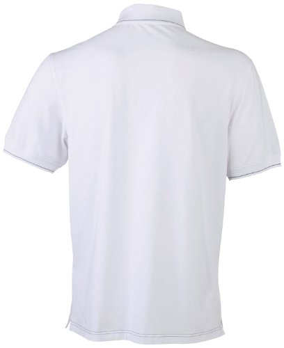 James & Nicholson Herren Poloshirt White/Black