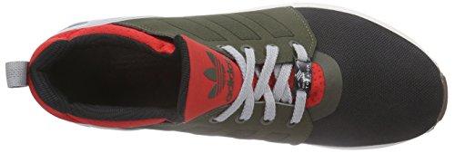 adidas Zx Flux Nps Updt, Baskets Basses homme Multicolore (Core Black/Fango/Scarlet)