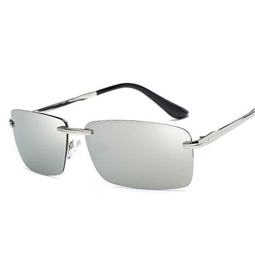 WDDYYBF Sonnenbrillen, Männer Sonnenbrille Sonnenbrille Fahren Männer Classic Low Profile Sonnenbrillen Für Männer Im Freien Uv400 Silber Silber