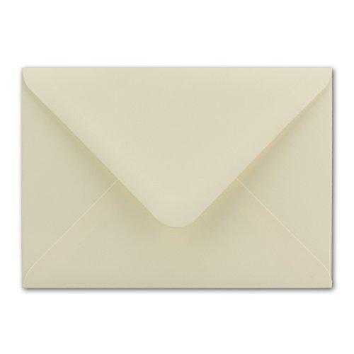50x Briefumschläge DIN C6 I 114 x 162 mm I mit Nassklebung I Farbe: Creme I Grammatur: 100 g/m² I Marke: Gustav Neuser®