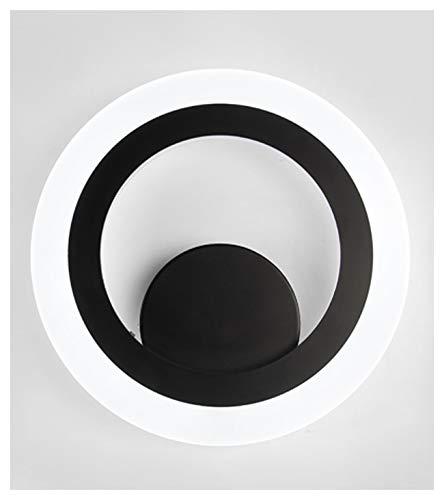 Einfache moderne Persönlichkeit Wand Lampe Gang Treppe Wohnzimmer TV-Schrank Beleuchtung Größe 28 * 4,5 cm warmes Licht, weißes Licht schwarz (Farbe : Weißes Licht) -