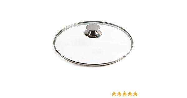 Size : 31cm Coperchio Per Padelle Sostituzione Pan coperchio trasparente in vetro Casseruola coperchio for soddisfare tutte le pentole e padelle sostituzione Pot Coperchi