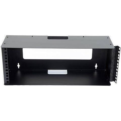 Estante de pared para barra de soporte con bisagra 2U