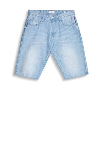 edc by ESPRIT Herren Shorts 047cc2c001 Blau (Blue Bleached 904)