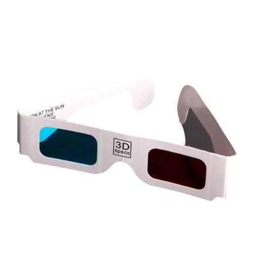 Rojo-cian azul Anaglifo 3 Gafas 3d Dimensiones x 100