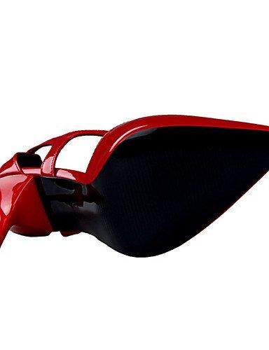 WSS 2016 Chaussures Femme-Décontracté-Noir / Rouge / Argent / Nu / Beige-Talon Aiguille-Talons-Chaussures à Talons-Polyuréthane nude-us5.5 / eu36 / uk3.5 / cn35