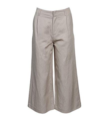 Filippa K Damen Hose Max mit Lyocell & Leinen beige 7670 Hemp M Jersey Wide Leg Cropped Pants