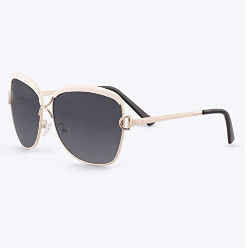 BAIYICHEN Sonnenbrillen für Damen 2018 Sonnenbrille Weibliche Polarisierte Gläser - Classic Retro - Auto Fahren Fahrbrille Sonnenschutz (Farbe : Jade White Frame)
