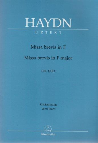 Missa Brevis Fa Majeur Hob.XXII:1 --- Chant(SATB)/Piano