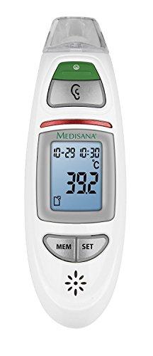 Medisana TM-750 - Termómetro multifunción por infrarrojos, alarma visual en caso de fiebre