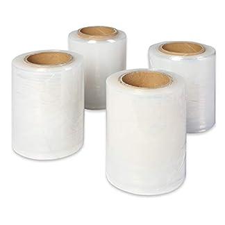 30 rollos de film estirable Mini Stretch 5cm/8cm/10cm/12.5cm/17cm/25cm/23mμ TRANSPARENTE para palets Envoltura de película para una protección óptima del producto, FABRICANTE (5cm)