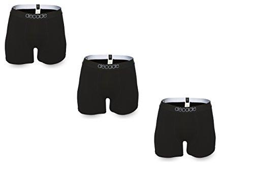 DECADE Herren Premium Boxershorts 3er Pack Schwarz