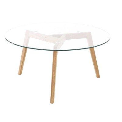 Id'Click Table Basse chêne Verre D90 cm Scandie