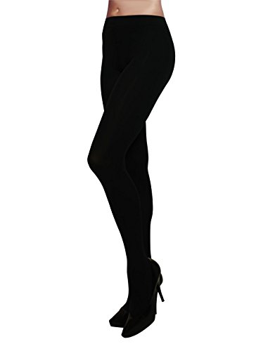 WINTER TIGHTS | THICK OPAQUE TIGHTS | MICROFIBER 3D PANTYHOSE | 200 DEN | BLACK | S/M, L/XL | MADE IN ITALY |