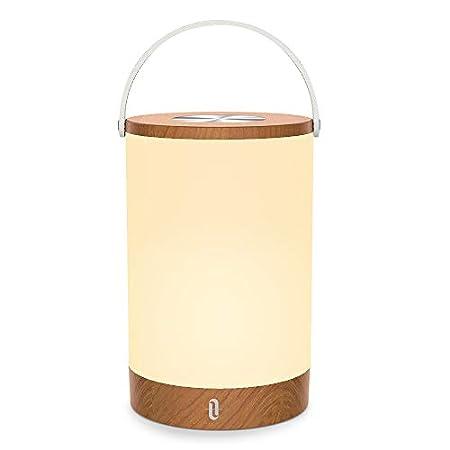 Tischlampe LED TaoTronics Vintage Nachttischlampe mit RGB Farbwechsel 256 Farbe, Touch-Bedienung, 4000mAh Akku…