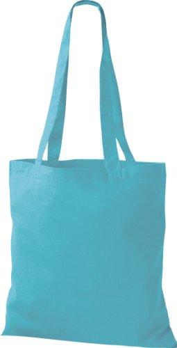 30x Stoffbeutel Baumwolltasche Beutel Shopper Umhängetasche viele Farbe sky blue