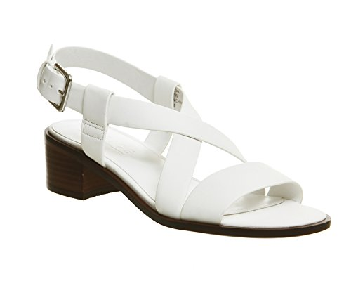 office-midtown-block-heel-sandals-white-9-uk