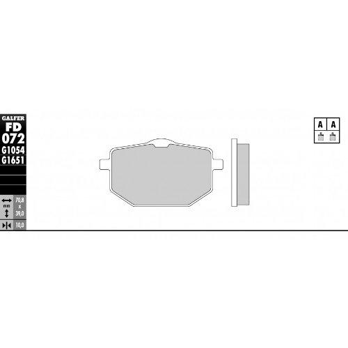 GALFER Pastiglie Freno Anteriori standard-YAMAHA XT 600Z Tenere