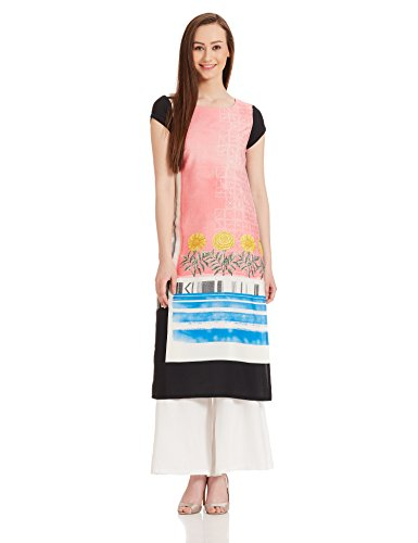 W for Woman Straight Kurta (17FE16597-59034_8_BLUE)  available at amazon for Rs.779