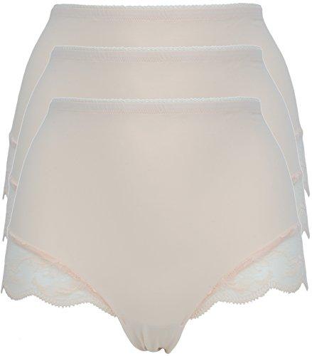 Ex Store 3Stück Hohe Taille Lichtregulierung Shaper Slip 3 Pack Nude