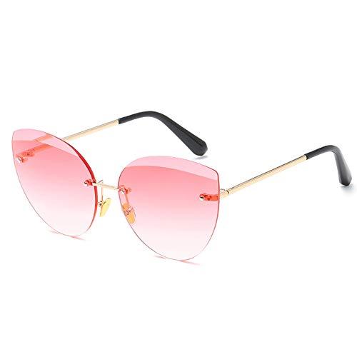 Huichao Katzenauge Sonnenbrille, Farb, Rahmen rahmenlose, Spiegellinse, polarisierte Reflexion, Unisex-Sommerbrille,Blue