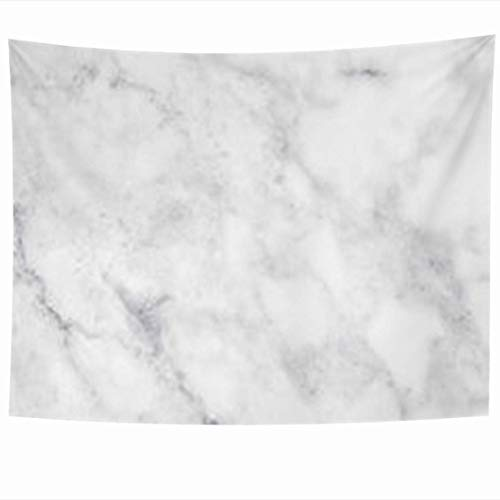 Alfreen Tapisserie-Dekor, Wall Hanging Tapestries 80 x 60 Inches Gray Bathroom White Marble Plate Ceramic Light Grey Decor Tapestry for Home Bedroom Living Room Dorm -