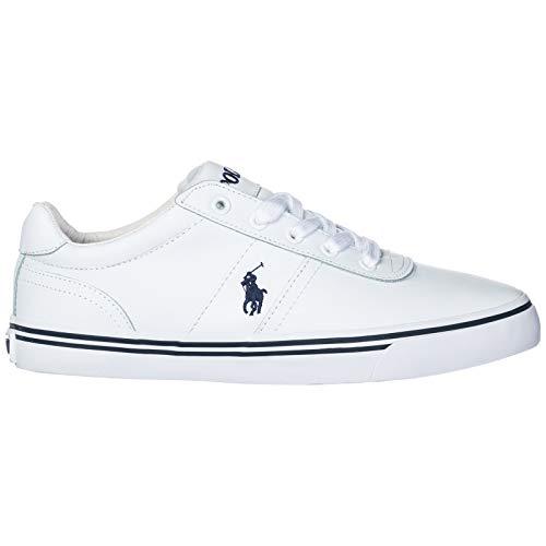 Ralph Lauren Polo Scarpe Sneakers Uomo in Pelle Nuove Hanford Bianco EU 44 816168180110