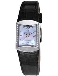 Christina Design London Damen-Armbanduhr Analog Leder schwarz 126SWBL