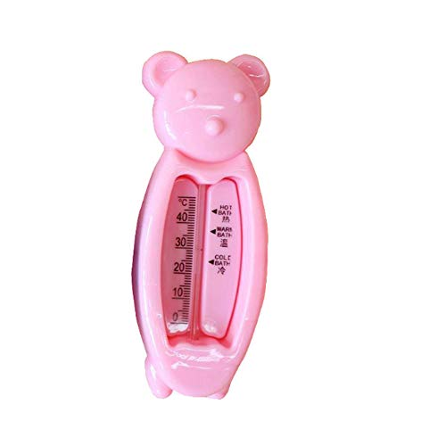 Baby Badethermometer Cute Cartoon Baby Bad Schwimmende Ente Spielzeug Und Badewanne Thermometer (Rosa)