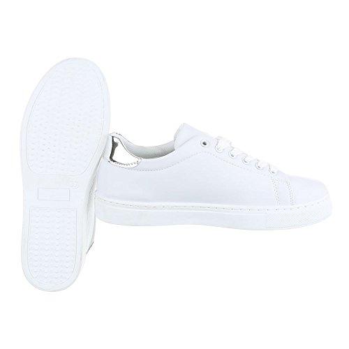 Ital-Design - Pantofole Donna Bianco argento