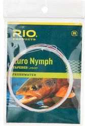RIO Products Leaders Euro Nymph Vorfach mit Tippet Ring, transparent -