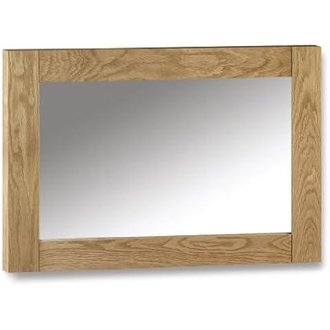 Julian Bowen Marlborough - Specchio da parete, in legno di quercia oliato