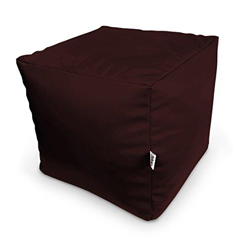 Natalia Spzoo Sitzwürfel aus Kunstleder zum sitzen spielen usw. super leicht (Braun)