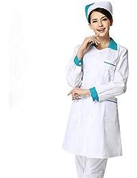 ESENHUANG Abrigo Médico De Manga Larga para Mujeres Servicios De Enfermería Ropa Médica Uniforme Ropa De