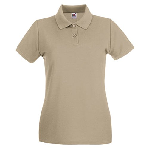 Fruit of the Loom Damen Modern T-Shirt Gr. Large, khaki (Dri Tank Cotton Fit)