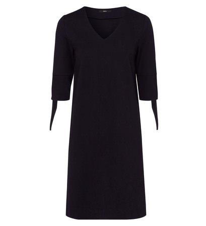 zero Damen Kleid mit V-Ausschnitt 313959 blue black 40