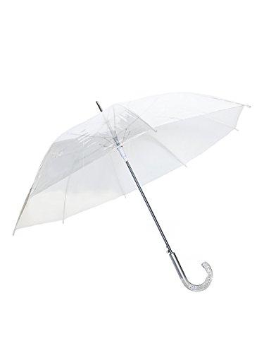 SMATI Parapluie Dame Blanche dome transparent - Mariage - resistant au vent