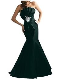 Gorgeous Novia Nueva sirena de tafetán Largo, vestido de noche vestido de fiesta sin tirantes