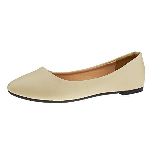 London Footwear - Balletto donna apricot