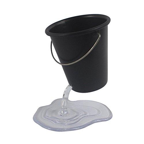 Zoohot - portapenne di design a forma di secchio sospeso, grazioso accessorio da scrivania nero