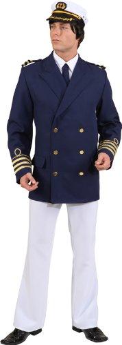 Admiral Jacke Kostüm - Orlob Admiral Jacke blau Herren Kostüm Kapitän Karneval Fasching Gr.58/60