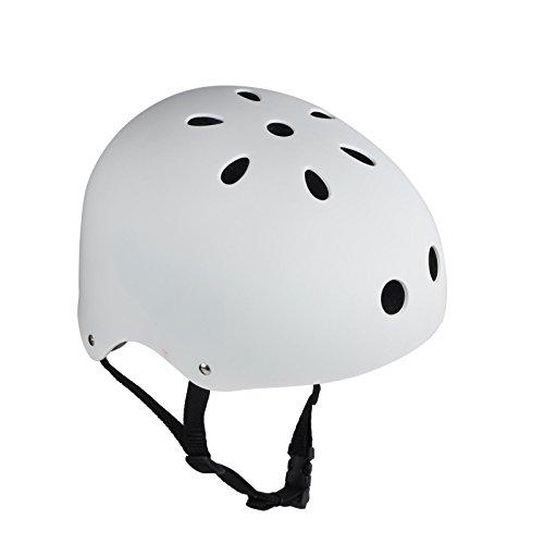 Larcele Erwachsener Multi-Sport Halbhelm AQTK-01 (S, Weiß)